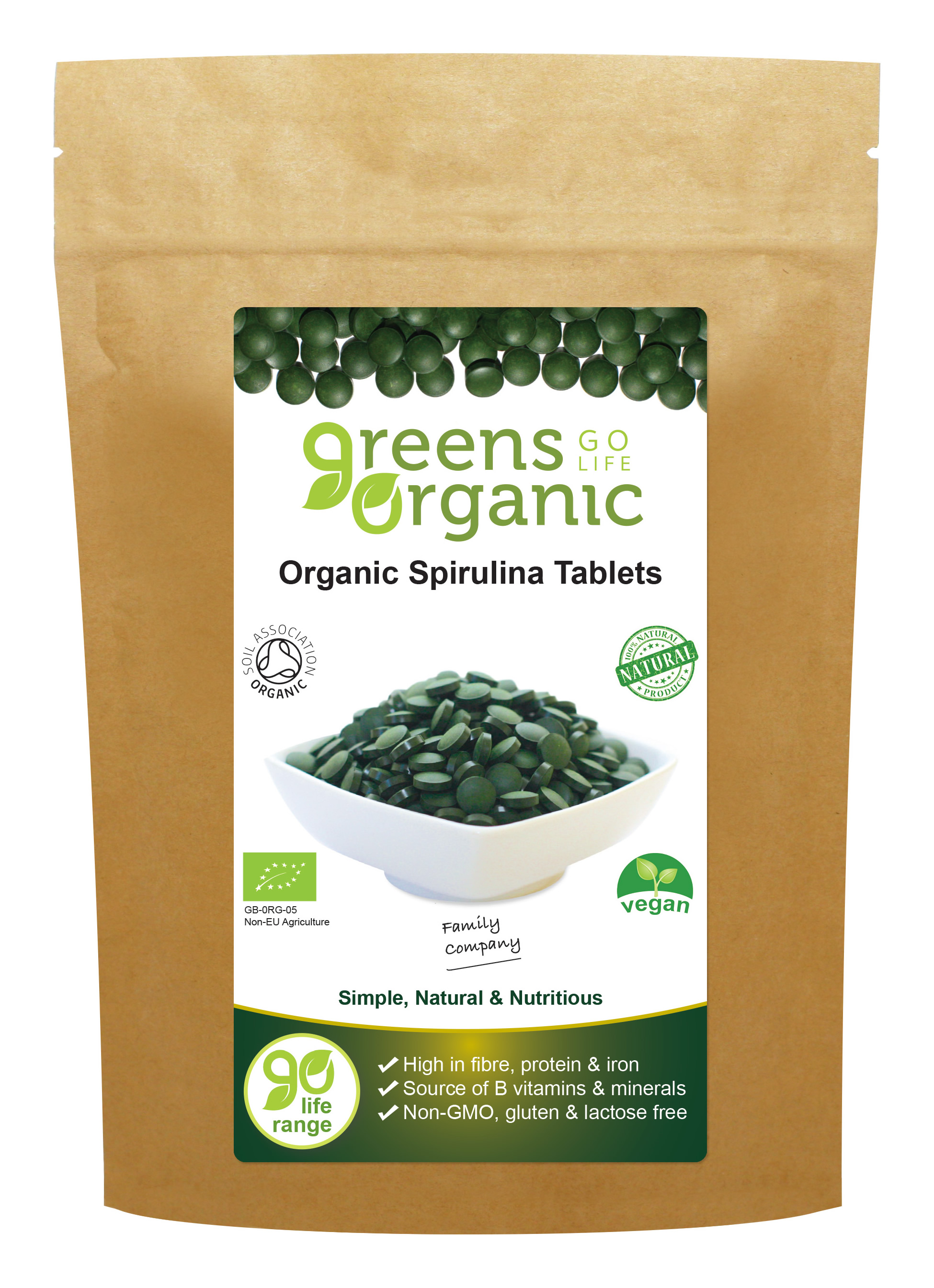 Organic Spirulina Tablets 500mg
